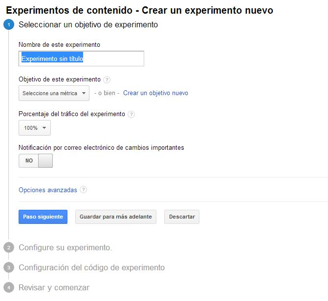 pruebas AB Google Analytics 2